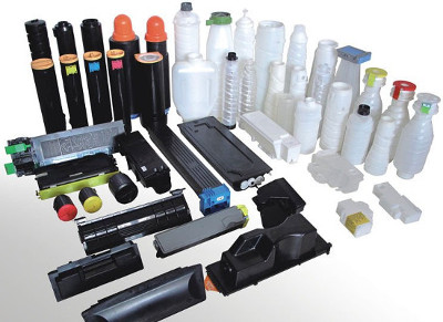 Picture of miscellaneous types of toner bottles